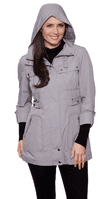 Womens Lightweight Functional Grey Travel Jacket db2014